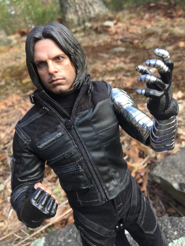 Hot Toys MMS351 Civil War Winter Soldier Figure with Alternate Hands