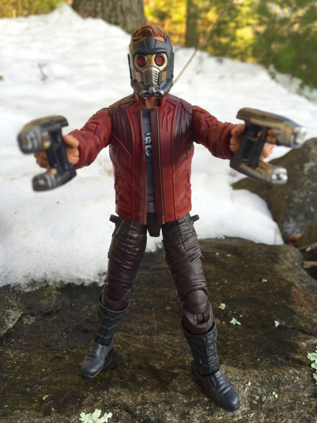 Star-Lord Marvel Legends Figure Holding Quad Blasters Guns