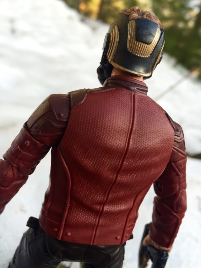Close-Up on Texture on Marvel Legends Star-Lord Figure's Jacket