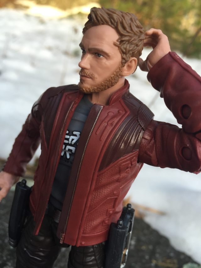 Side View of Marvel Legends Chris Pratt Head Star-Lord