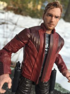 Close-Up of Marvel Legends Star-Lord Figure Chris Pratt Head