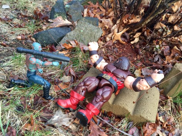 Marvel Legends Guardians of the Galaxy 2 Drax Blasts Juggernaut with Bazooka