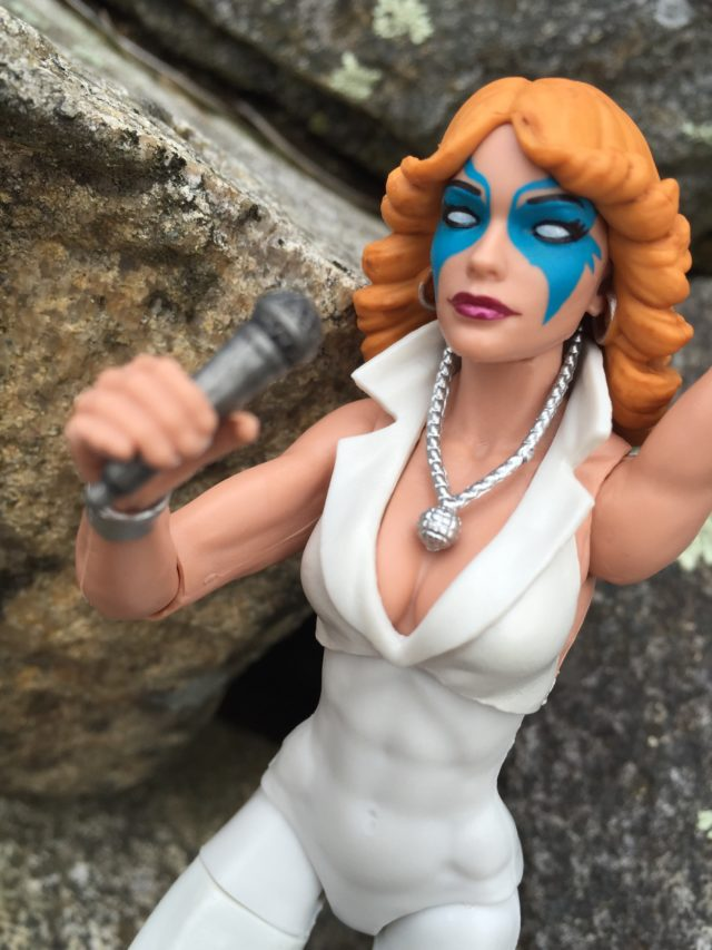 Close-Up of Marvel Legends Dazzler Head Sculpt