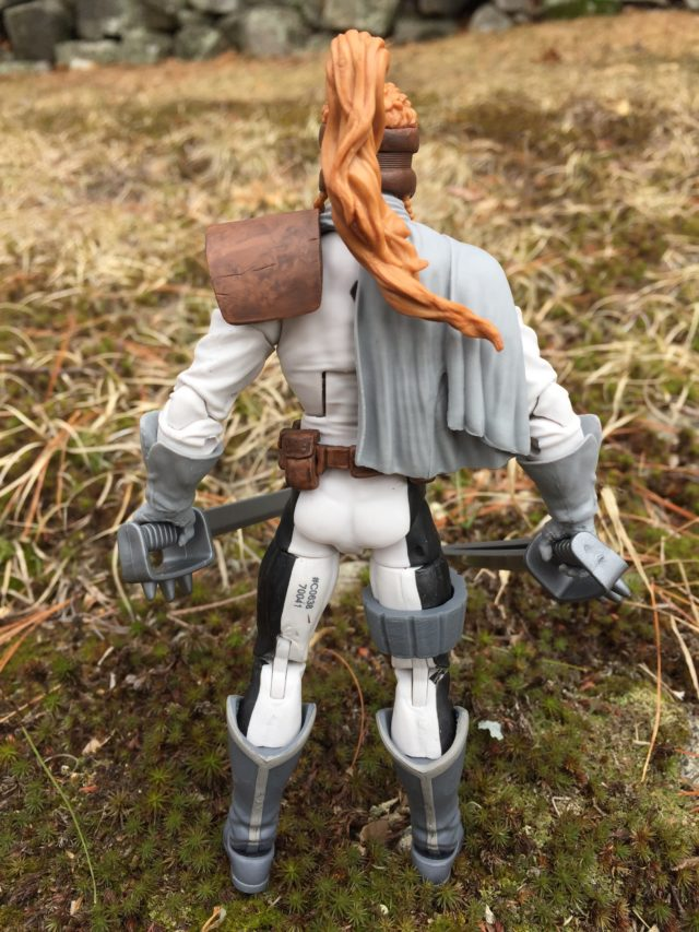 Back of Marvel Legends Warlock Series Shatterstar Action Figure