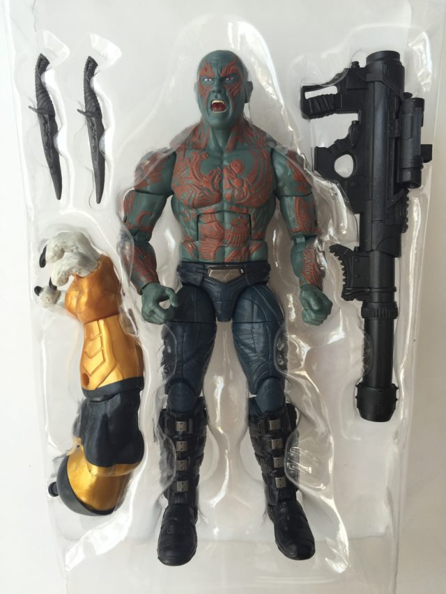 Marvel Legends Guardians of the Galaxy 2 Drax Figure and Accessories