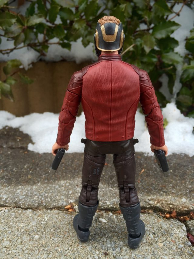 Back of Marvel Legends Guardians of the Galaxy 2 Star-Lord Figure