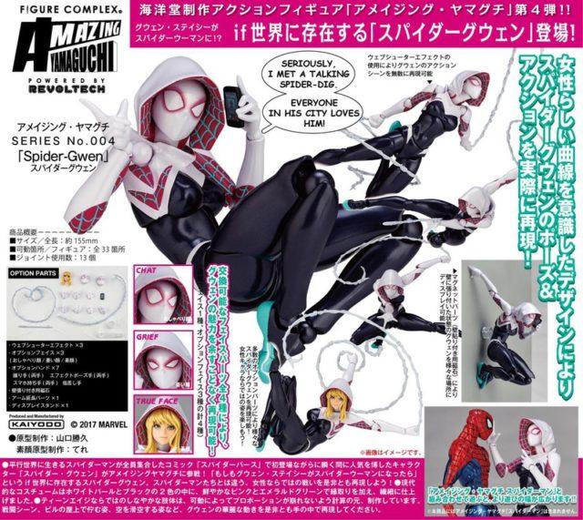 Kaiyodo Revoltech Spider-Gwen Figure Poster