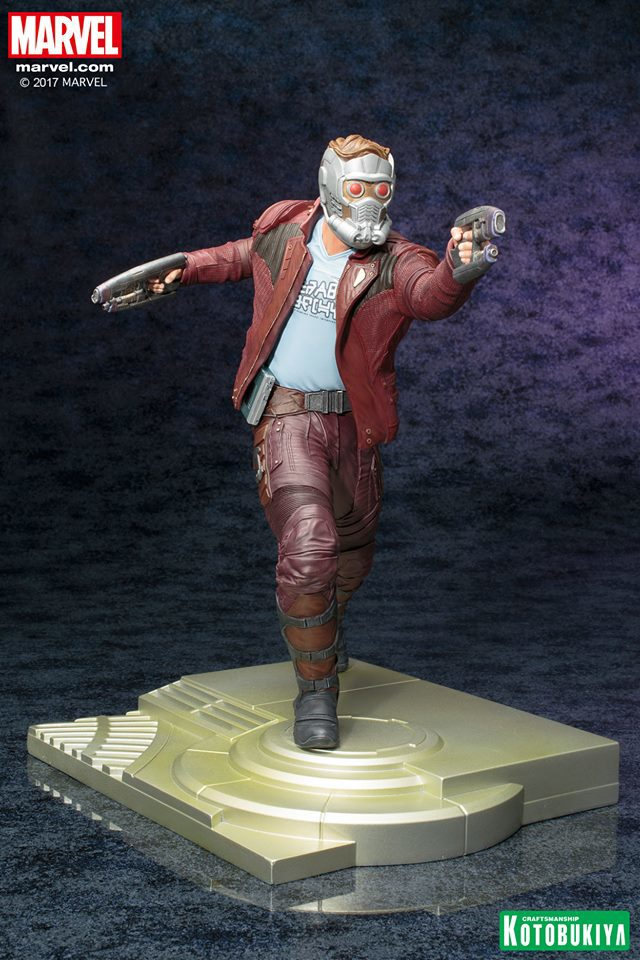 Kotobukiya Guardians of the Galaxy Star-Lord ARTFX Statue with Mask On