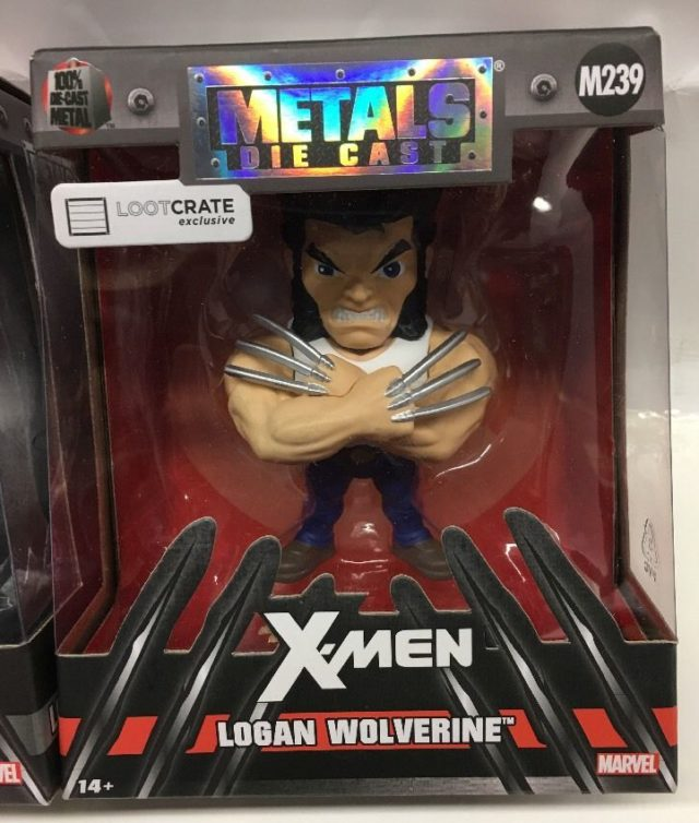 LootCrate Exclusive Jada Metals Wolverine Figure Packaged