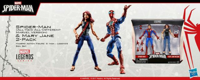 Marvel Legends Mary Jane and Spider-Man Two-Pack