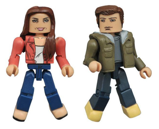 Marvel Minimates Spider-Man Homecoming Aunt May and Peter Parker Figures