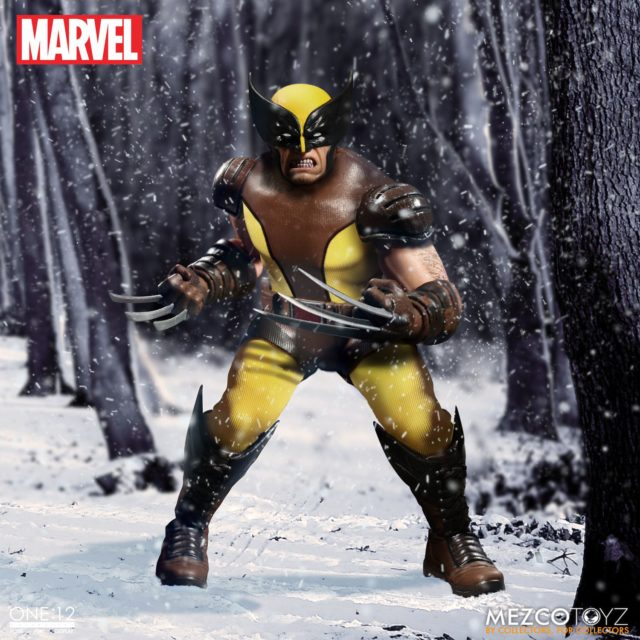 Marvel ONE 12 Collective Wolverine Action Figure in Snow