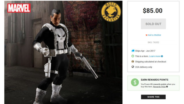 Mezco Classic Punisher Figure Sold Out