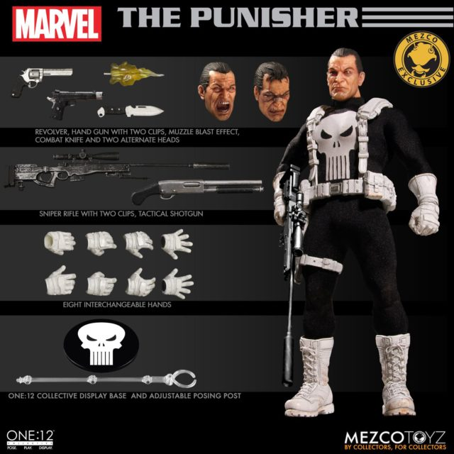 Mezco Classic Punisher Figure and Accessories