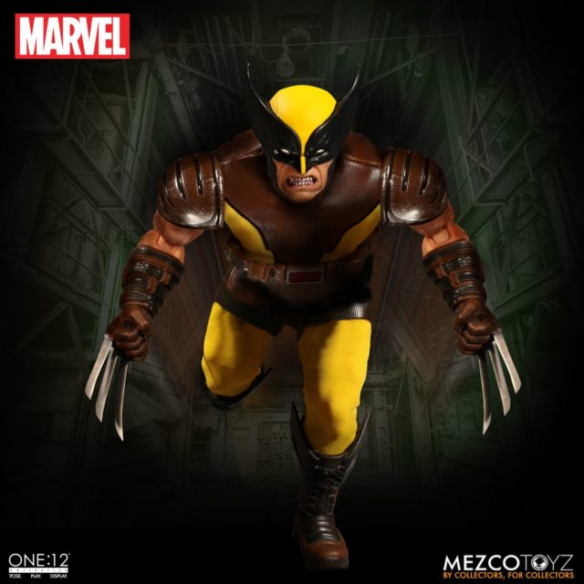 Mezco Marvel ONE12 Collective Wolverine Figure with Angry Head