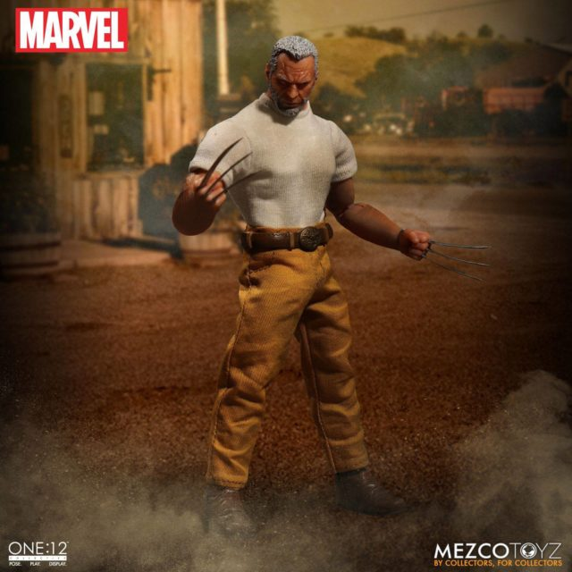 Mezco Marvel One 12 Collective Old Man Logan with Jacket Off