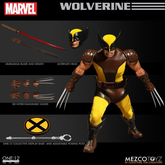 Mezco ONE 12 Collective Wolverine Figure and Accessories