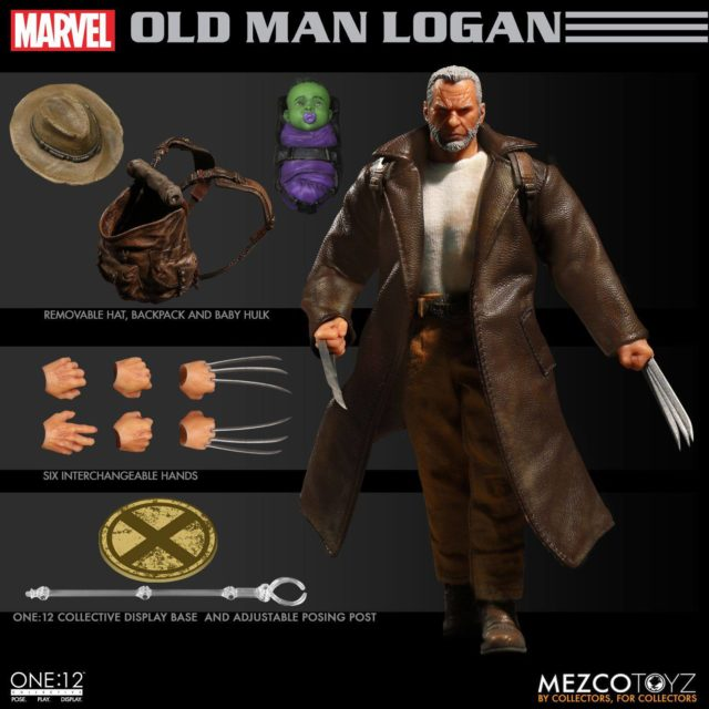 Mezco Toyz Old Man Logan ONE 12 Collective Figure and Accessories