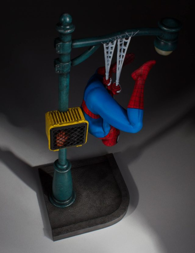 Overhead View of Gentle Giant Spider-Man Statue Collector's Gallery