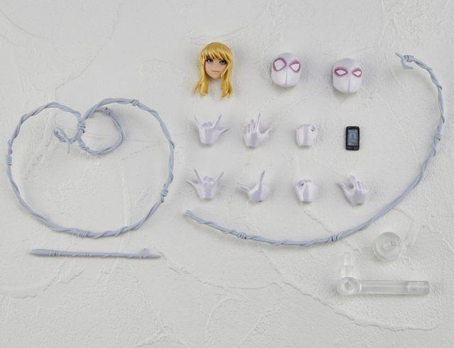 Revoltech Spider-Gwen Figure Accessories Hands Heads