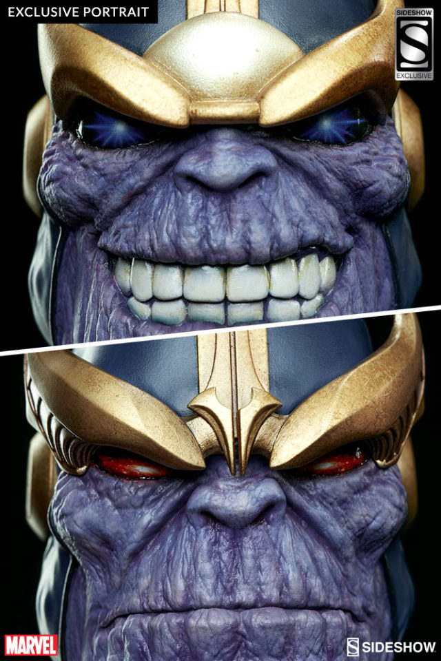 Sideshow EXCLUSIVE Thanos Portrait Interchangeable Smiling Head