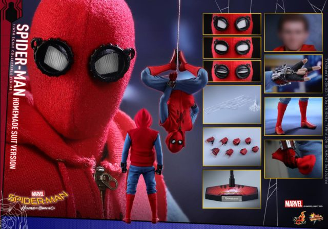 Spider-Man Homecoming Hot Toys Homemade Suit Version Figure and Accessories