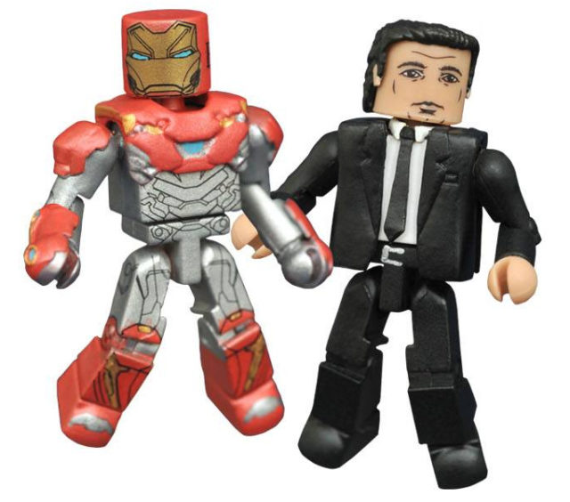 Spider-Man Homecoming Iron Man and Happy Hogan Minimates Figures