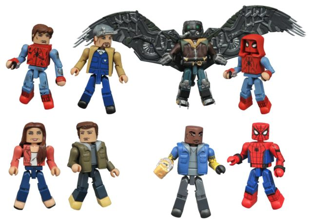Spider-Man Homecoming Minimates Series Figures Shocker Tinkerer Aunt May