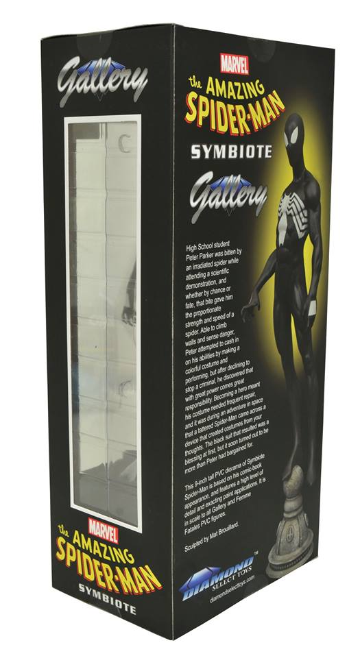 Symbiote Spider-Man Marvel Gallery Statue Box Back Diamond Select Toys