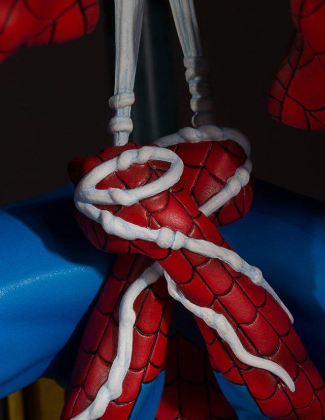 Webbing Detail on Hands of Spider-Man Gentle Giant Collectors Gallery Statue