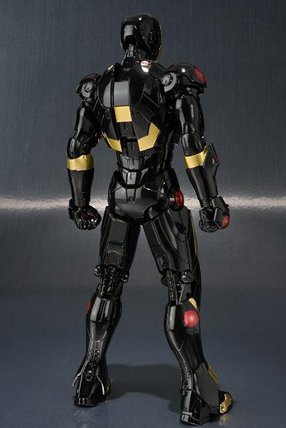 Back of Age of Heroes Exhibition SH Figuarts Iron Man Mark III Figure