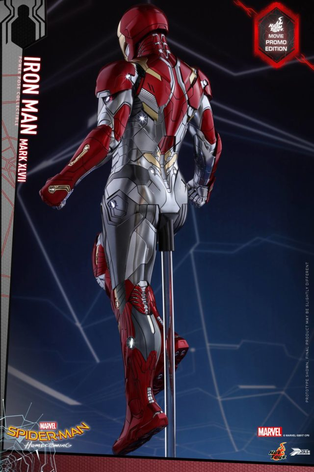 Back of Hot Toys Movie Promo Homecoming Iron Man PPS Figure