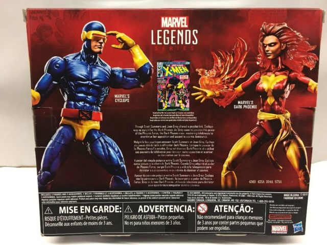 Box Back Marvel Legends Cyclops Dark Phoenix Set