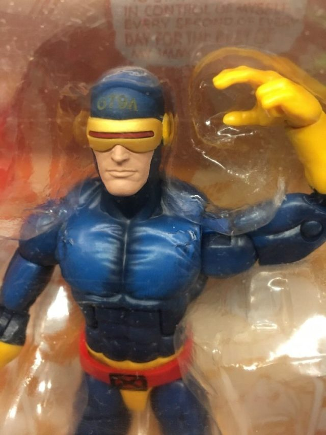 Close-Up of Marvel Legends Classic Cyclops Toys R Us Exclusive Figure