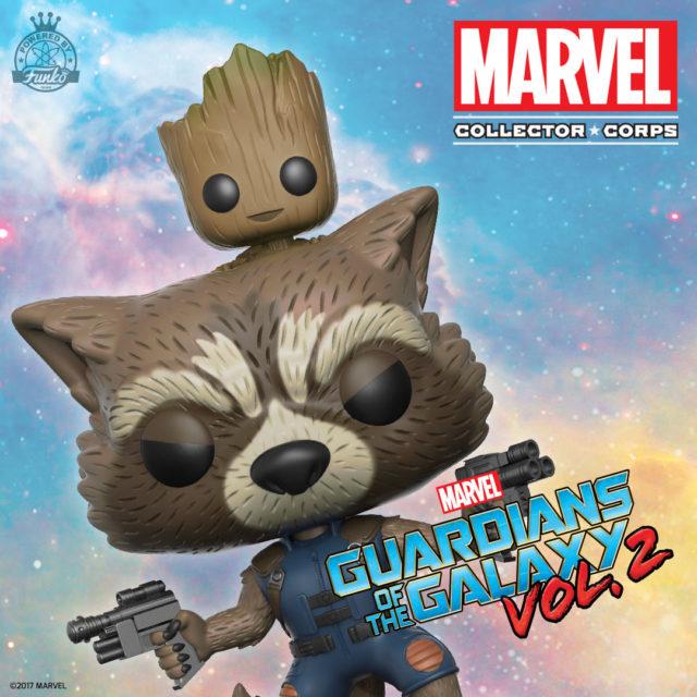 Collector Corps Rocket Raccoon Baby Groot POP Vinyl Revealed