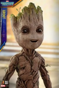 Guardians of the Galaxy Vol. 2 Groot Hot Toys Life Size Figure Close-Up
