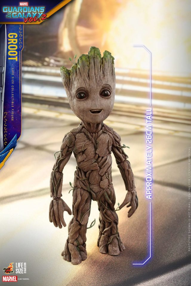 Hot Toys 10 Inch Baby Groot Life Size Figure