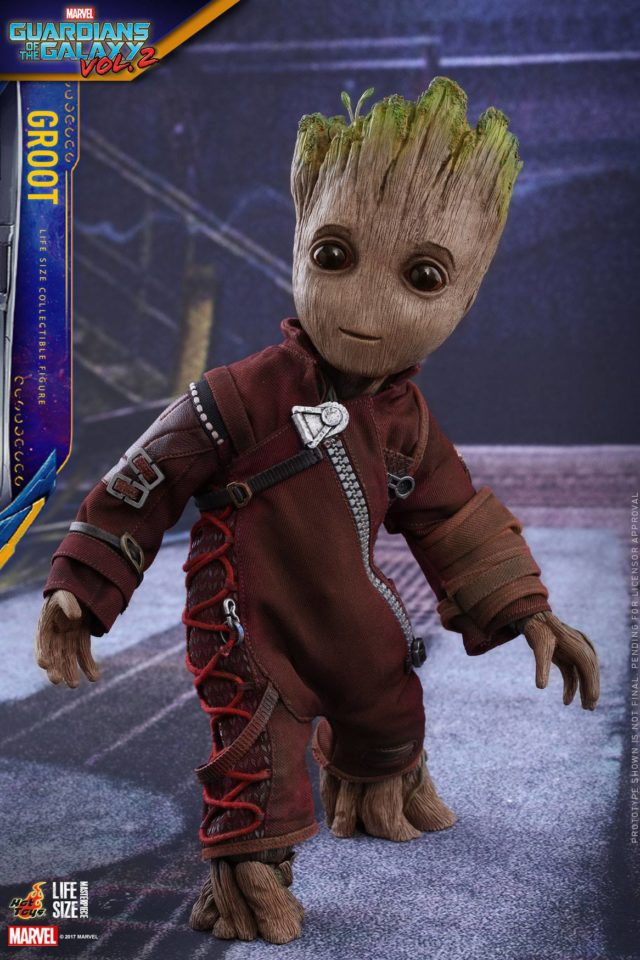 Hot Toys Baby Groot Life Size Masterpiece Figure in Ravagers Outfit