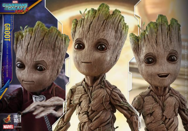 Hot Toys Life-Size Groot Figure Interchangeable Faces