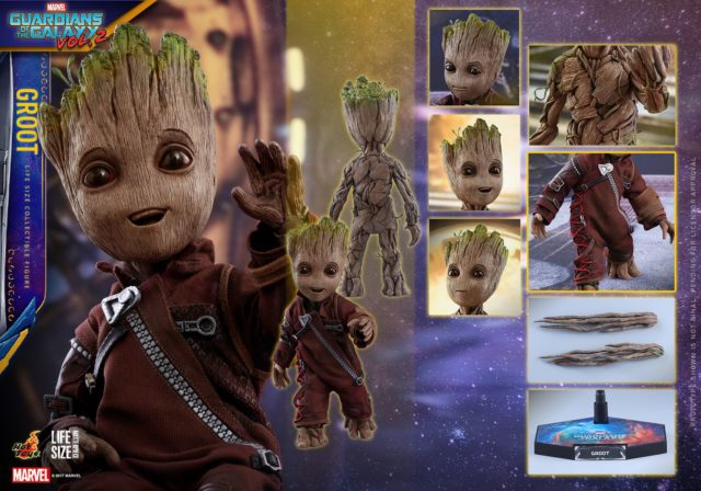 Hot Toys Life Size Groot Figure and Accessories