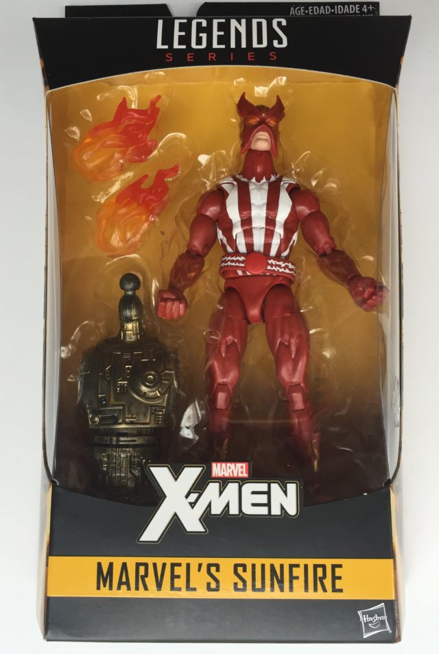 X-Men Marvel Legends Sunfire Figure Packaged