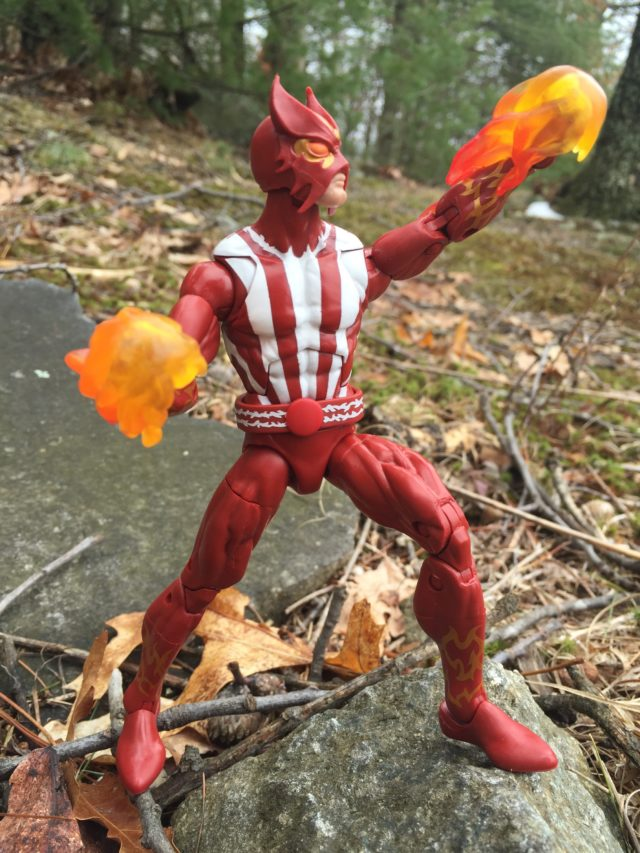 Sunfire Marvel Legends 2017 Figure Giving Flaming Uppercut