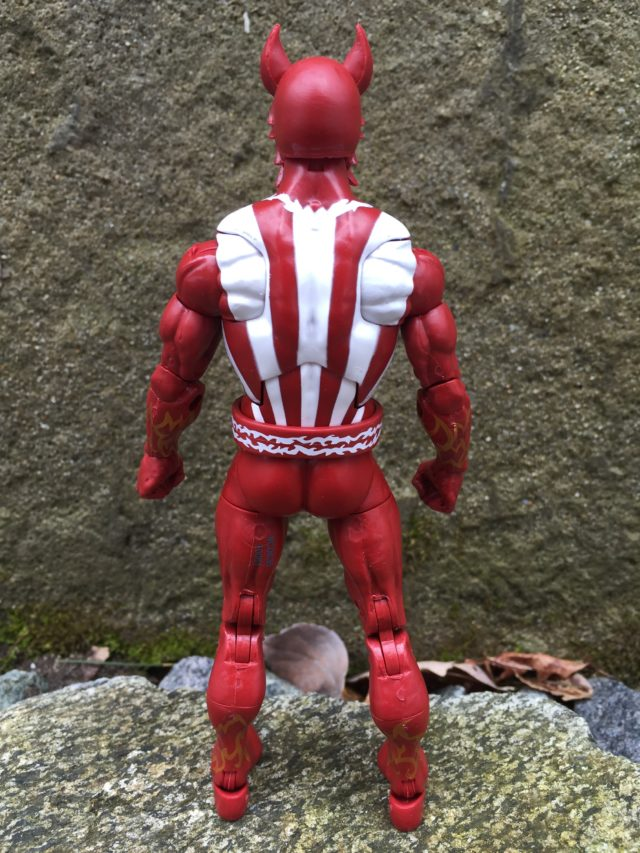 Back of Marvel Legends Sunfire X-Men Series Figure