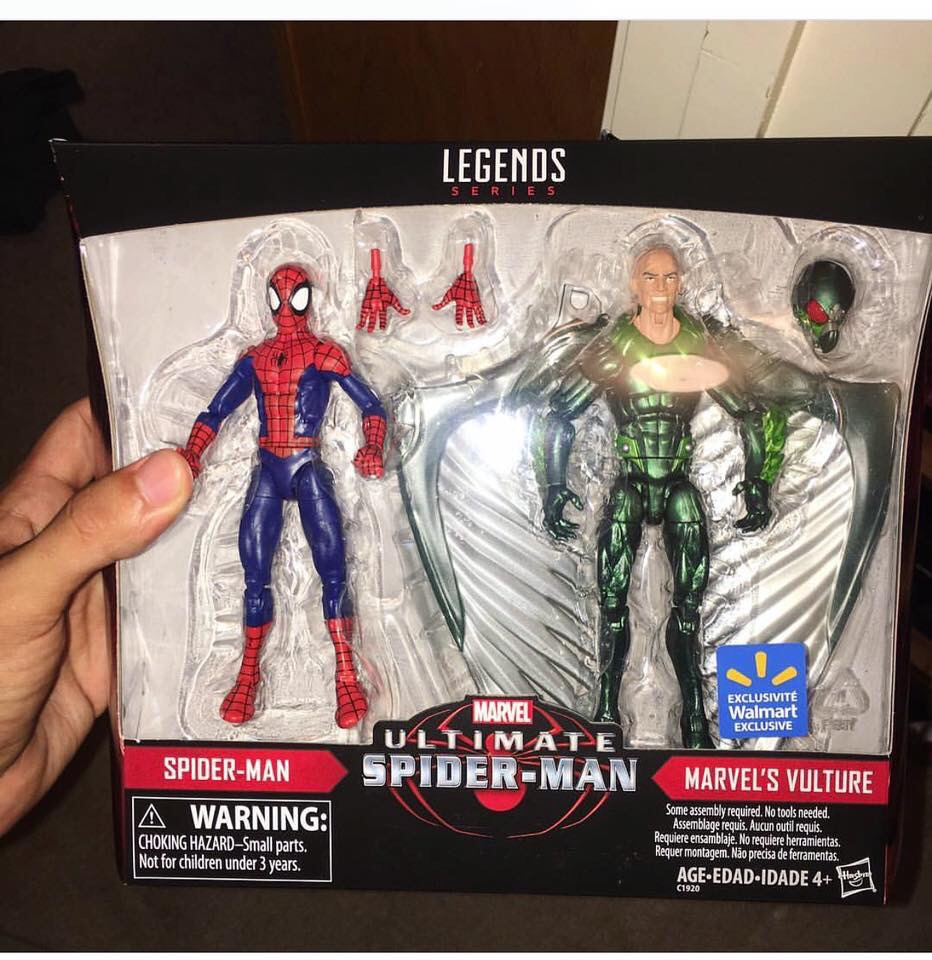 "Marvel Legends Walmart exclusive Spider-Man 2-Pack Spider-man 6/"" action figure"