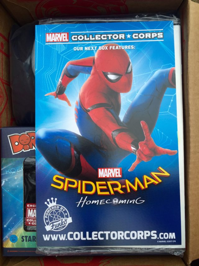 Marvel Collector Corps Spider-Man Homecoming Announcement Card Ad