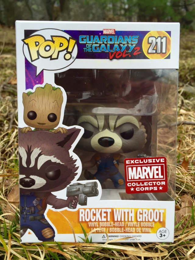 Funko POP Rocket with Groot Vinyl Figure Exclusive