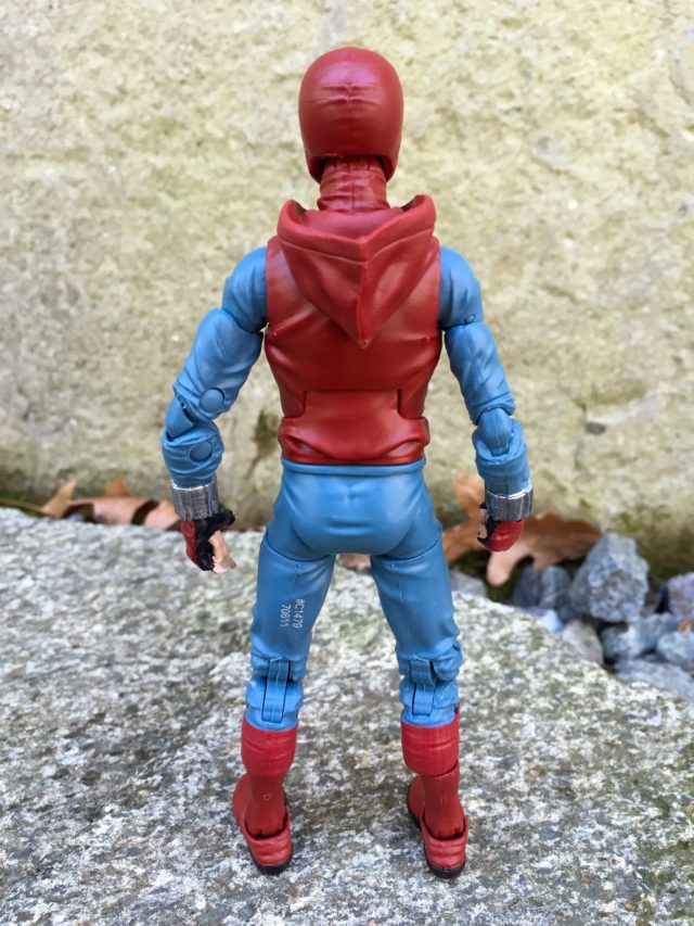 Back of Homemade Costume Spider-Man Marvel Legends Action Figure