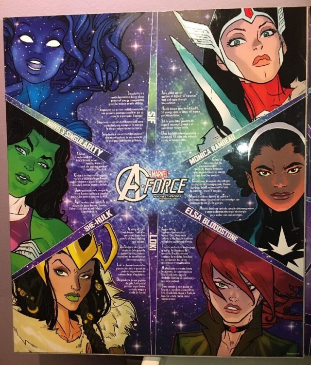 Inside Cover of Toys R Us A-Force Marvel Legends Exclusive Pack