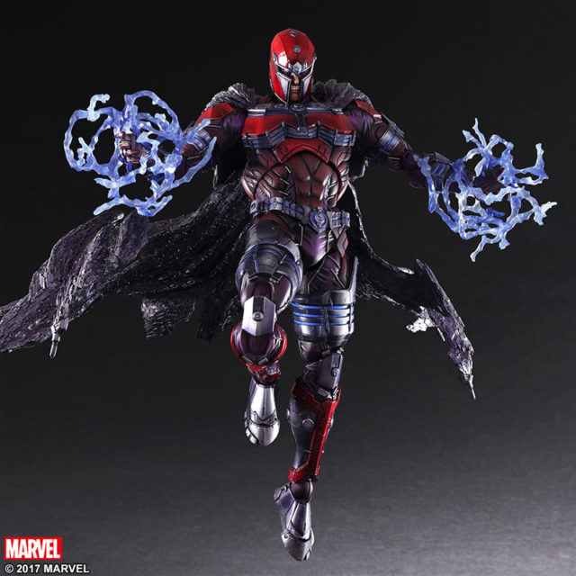 Magneto Play Arts Kai Variant Figure Flying with Energy Effects