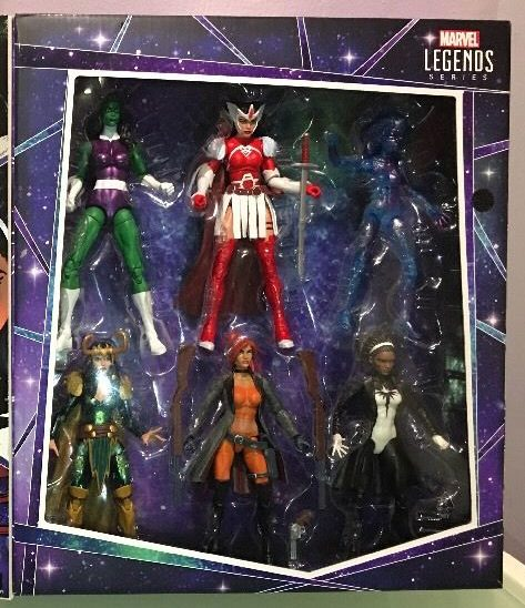 Marvel Legends A-Force Box Set Opened